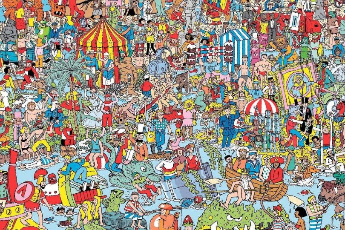 """Y aprovechamos para mostrarte un clásico, ¿pueden encontrar a Wally? Foto:""""Where's Wally"""". Imagen Por:"""