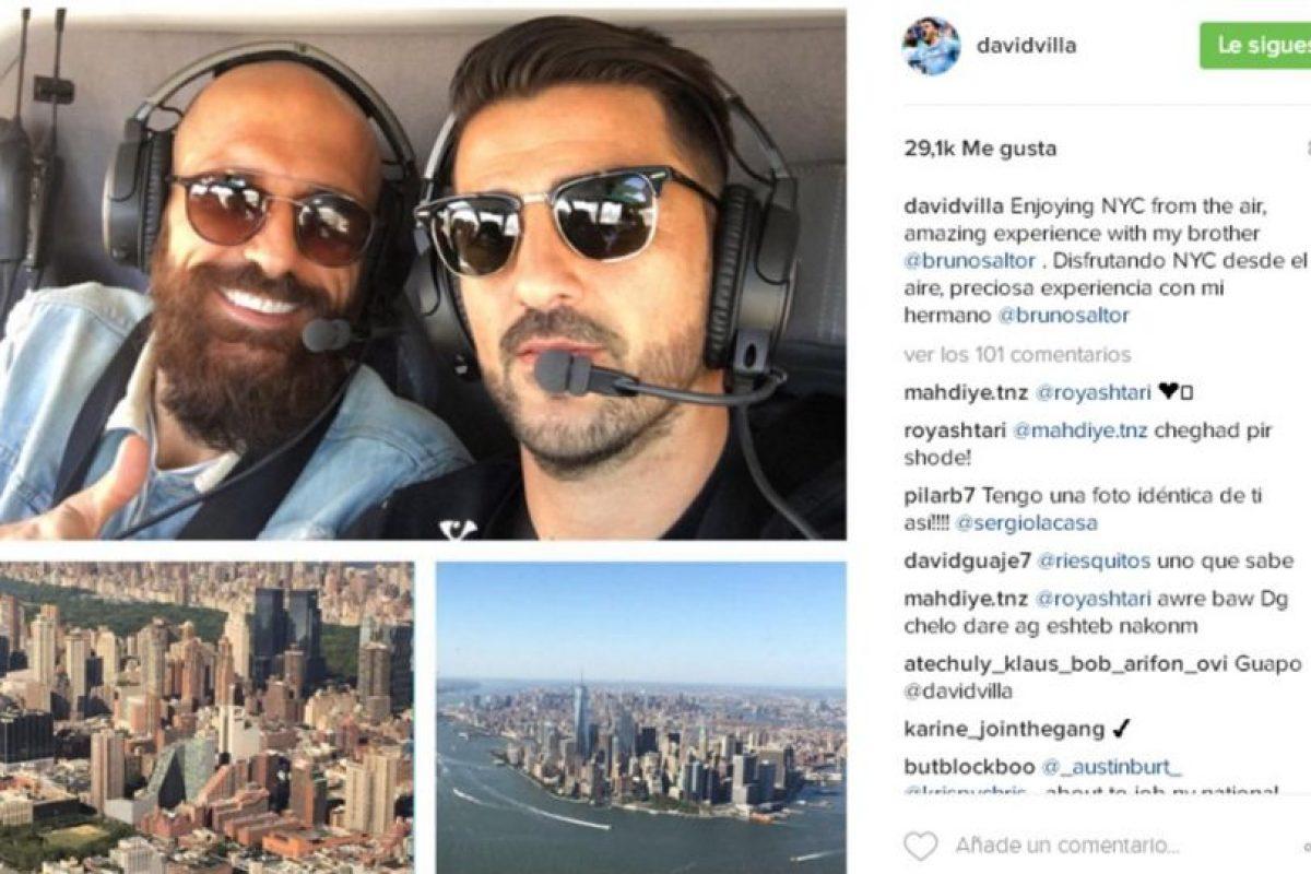 David Villa (España) Foto:Instagram. Imagen Por: