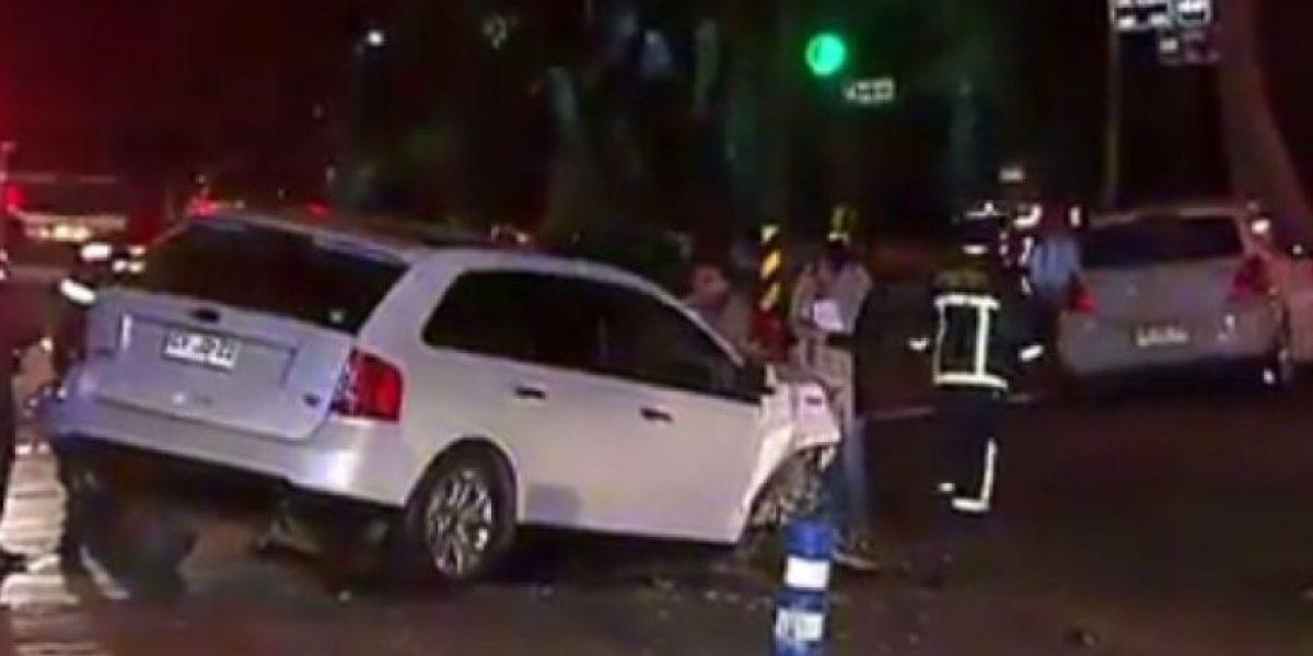 Las Condes: escape de banda que asaltó una vivienda terminó en accidente