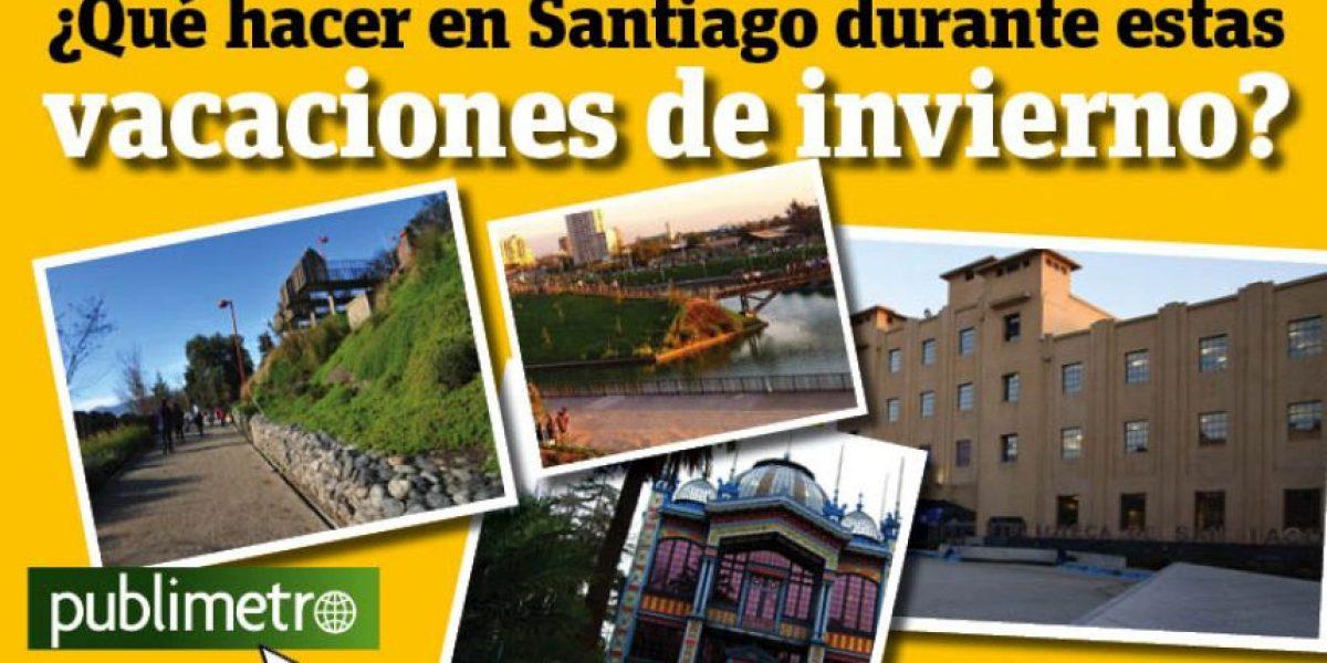Infografía: ¿Qué hacer en Santiago durante estas vacaciones de invierno