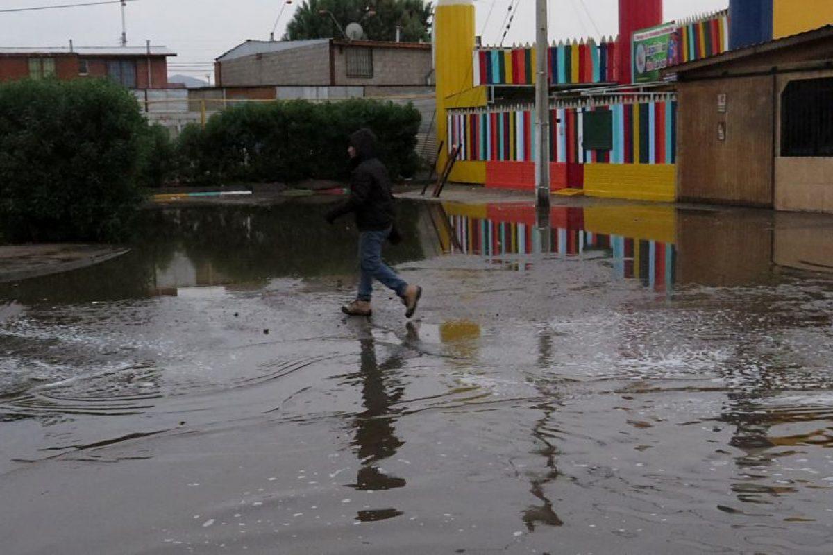 Lluvia en Calama. Foto:Agencia Uno. Imagen Por: