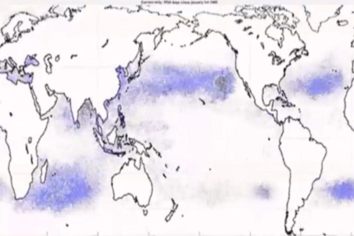 Estos son las Grandes Parches de Basura de los océanos.. Imagen Por: