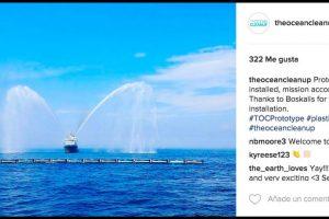 El prototipo se instaló a 23 kilómetros de la costa de Países Bajos. Foto:Instagram theoceancleanup. Imagen Por: