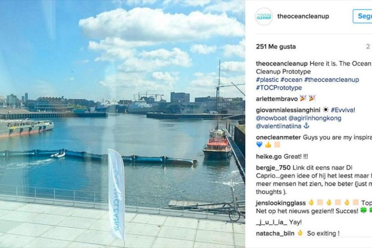 Se espera que el proyecto pueda comenzar operaciones en el año 2020. Foto:Instagram theoceancleanup. Imagen Por:
