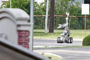 El robot antibombas llevaba un dispositivo explosivo Foto:Getty Images. Imagen Por: