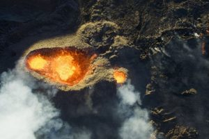 Tercer lugar: Volcán Piton de la Fournaise Foto:Autor: Jonathan Payet – Dronestagram.com. Imagen Por: