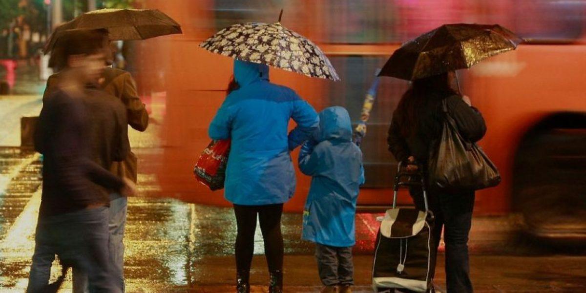 Meteorología pronostica lluvias y fuertes vientos para la zona central del país