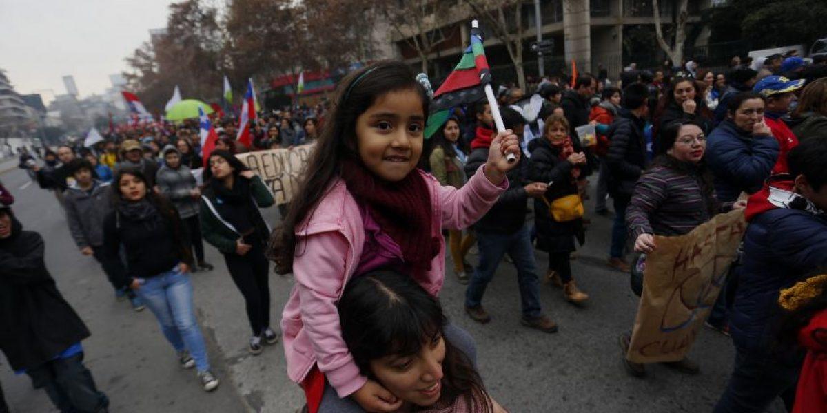De forma pacífica transcurrió marcha familiar en contra de reforma a la Educación Superior