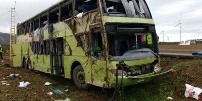 Volcamiento en Ovalle: conductor de Turbus se habría quedado dormido al volante