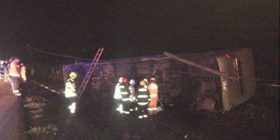 Al menos cuatro víctimas tras accidente protagonizado por un bus en Ovalle