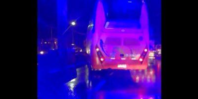 Buses y camiones involucrados en colisión múltiple en el Puente Maipo