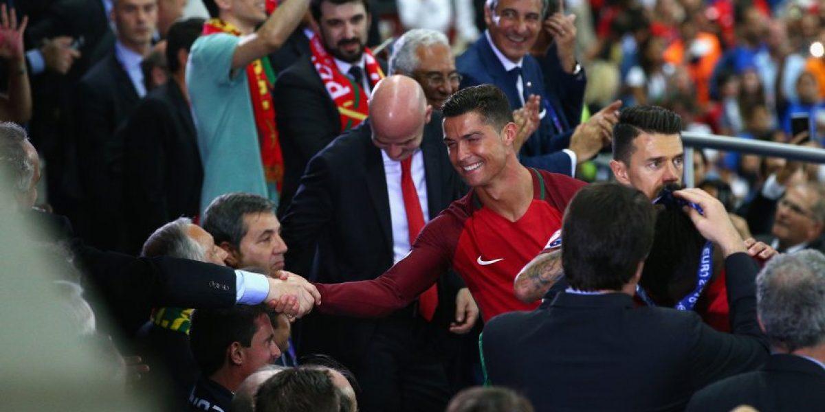 La emoción de Cristiano Ronaldo al ver a Alex Ferguson en la final de la Eurocopa