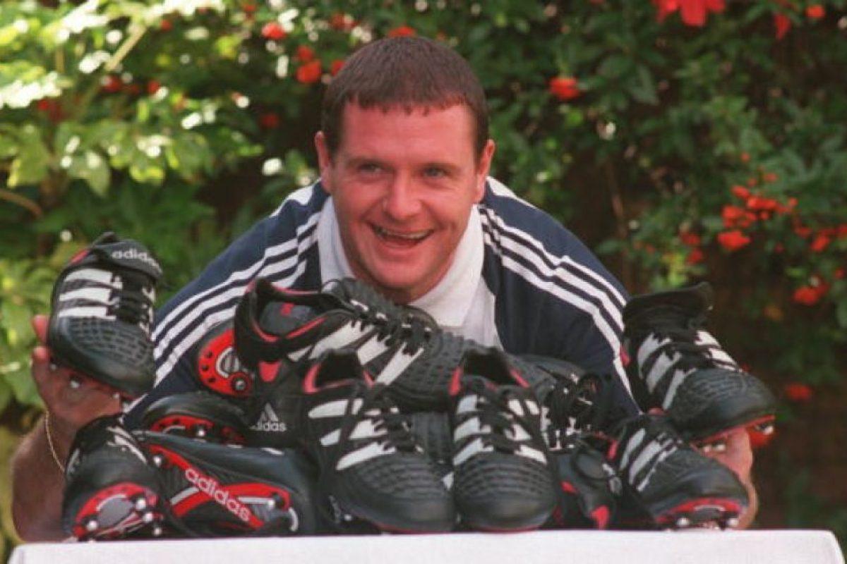 1995: Gascoigne llega a Glasgow Rangers Foto:Getty Images. Imagen Por: