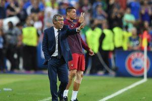Un lesionado Cristiano Ronaldo sufrió al borde de la cancha Foto:Getty Images. Imagen Por: