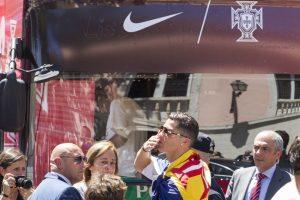 Cristiano Ronaldo lideró los festejos de Portugal en Lisboa Foto:Getty Images. Imagen Por: