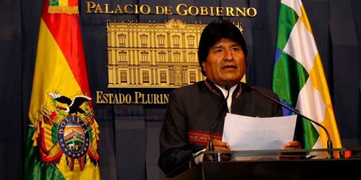 Evo Morales acusa a Chile de ejercer