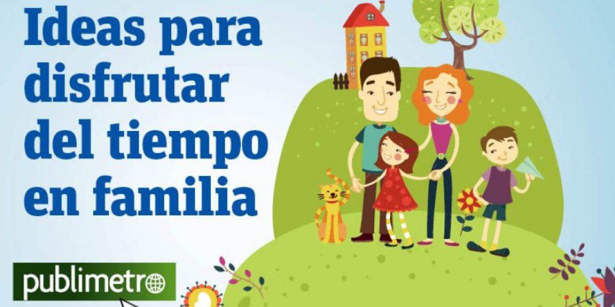 Infografía: ideas para disfrutar del tiempo en familia