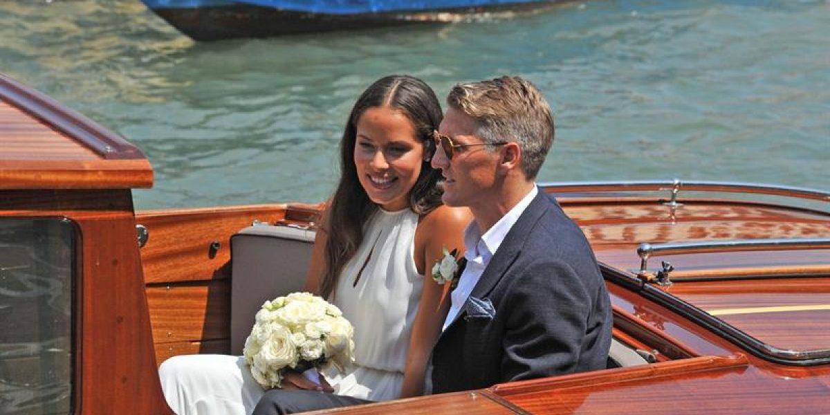 Pareja de campeones: Bastian Schweinsteiger y Ana Ivanovic se casaron en Venecia