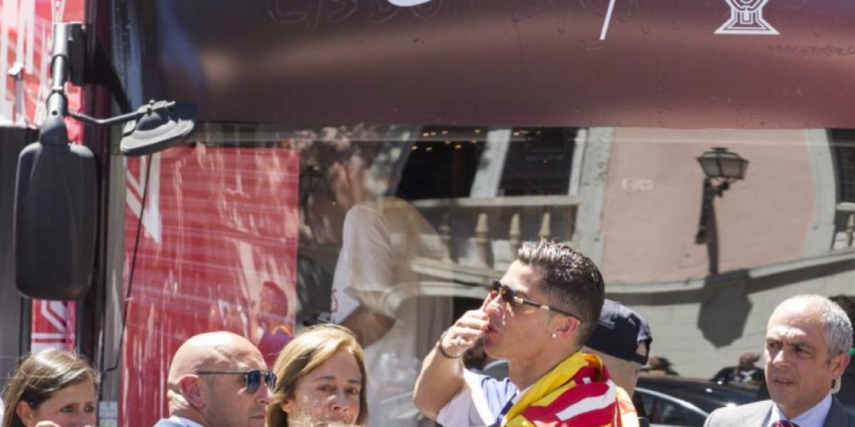 Los locos festejos de Portugal visto desde el celular de Cristiano Ronaldo
