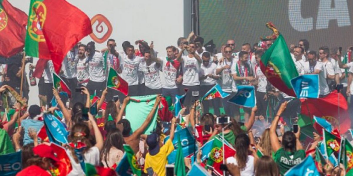 Cristiano Ronaldo filmó desde su celular la celebración por la Euro 2016