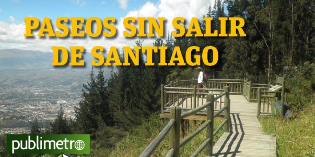 Infografía: paseos sin salir de Santiago