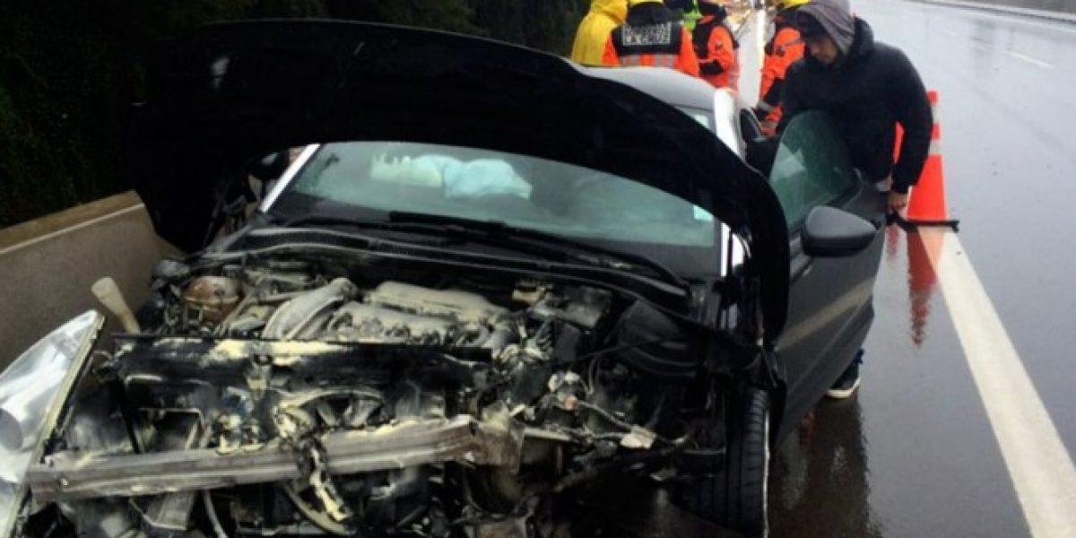 Salió ileso: Jugador de San Luis protagonizó accidente de tránsito con barrera de contención