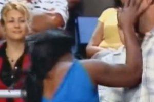 Una mujer embarazada pelea con otra. Foto:Telemundo. Imagen Por: