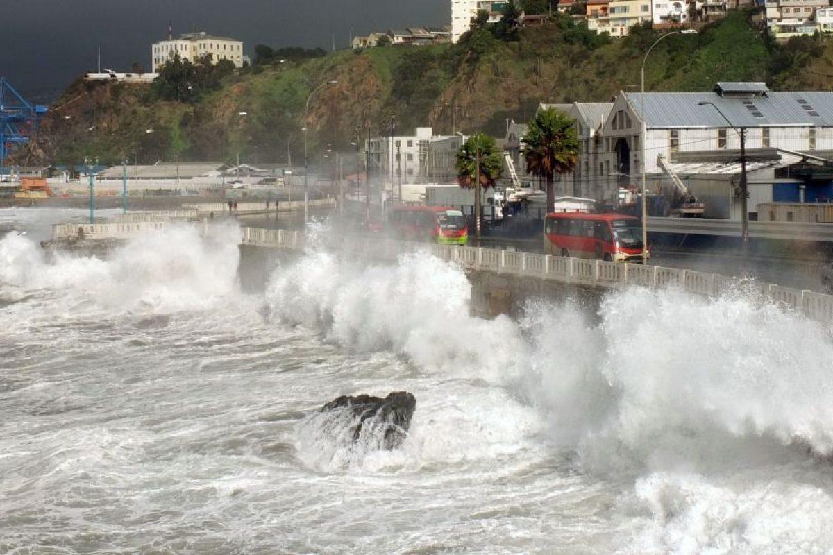Marejadas en Valparaiso 13 Julio 2016 Foto:Agencia Uno. Imagen Por: