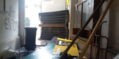 Revelan destrozos en Universidad Alberto Hurtado tras un mes de toma