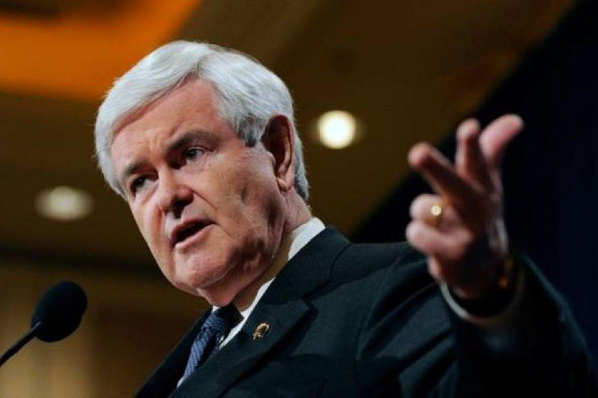 Newt Gingrich, ex presidente de la Cámara de Representantes Foto:AFP. Imagen Por: