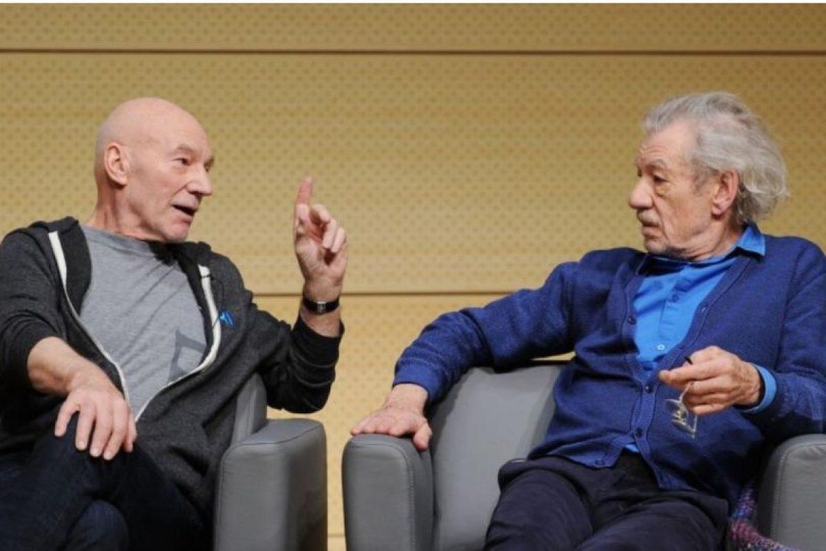 Patrick Stewart e Ian McKellen confesaron haber visto al fantasma de un famoso dramaturgo mientras interpretaban una obra de teatro Foto:Getty Images. Imagen Por:
