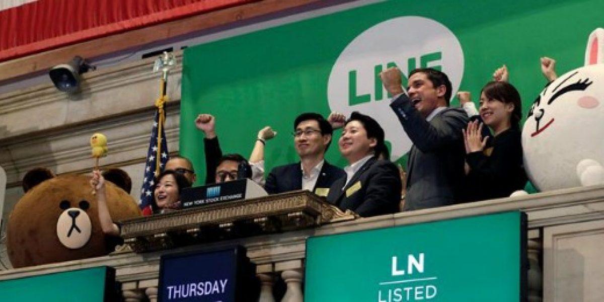 Line se dispara más de un 30% en su salida a bolsa en Nueva York