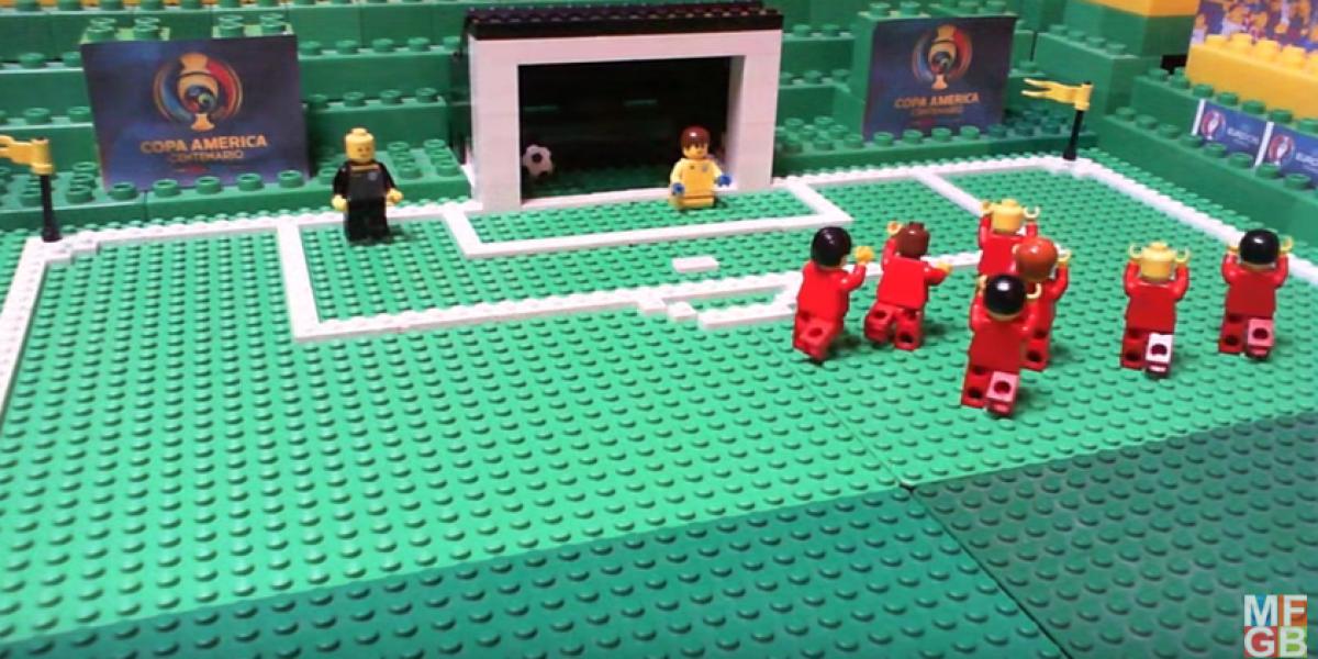 Espectacular: Vea el triunfazo de la Roja en la Copa Centenario en formato Lego