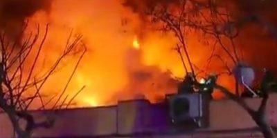 Al menos tres locales comerciales afectados dejó incendio en barrio 10 de Julio