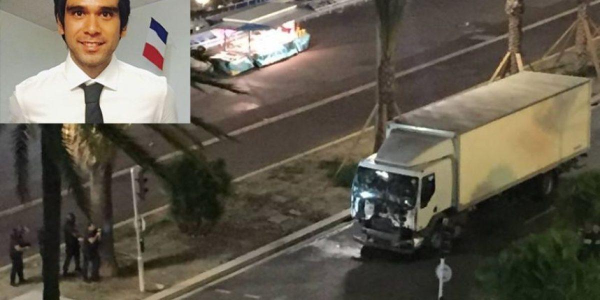 """Chileno en Niza: """"Estoy nervioso, triste, estaba a 500 metros del ataque"""""""