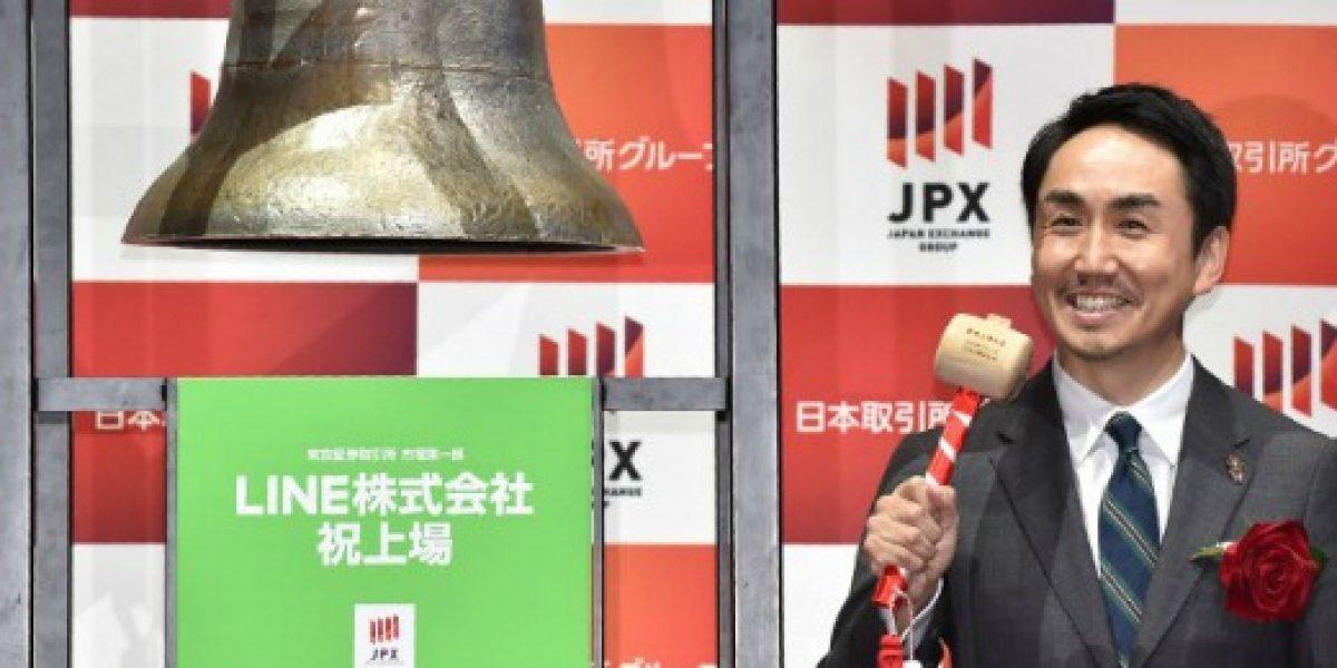 Acciones de Line suben un 50% en su debut en la bolsa de Tokio