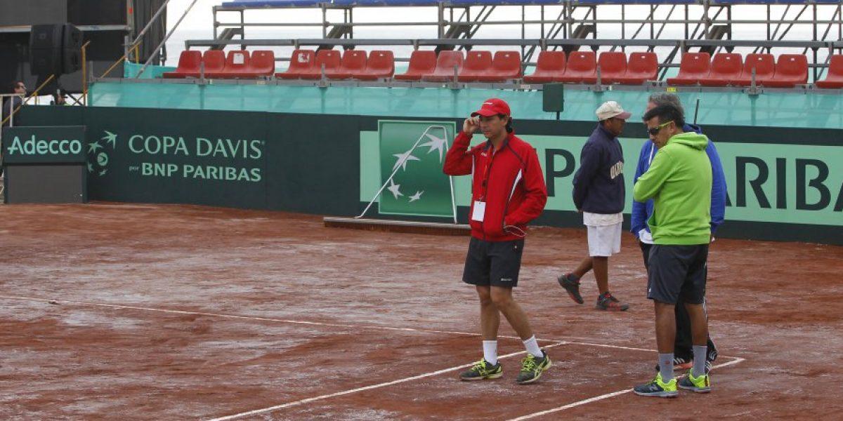 La cancha de tenis de Iquique que pone en jaque la realización de la serie frente a Colombia