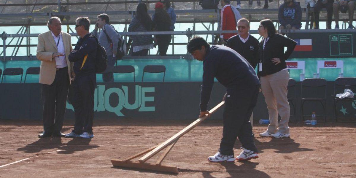 Copa Davis entre Chile y Colombia queda a revisión y podría atrasarse hasta el sábado