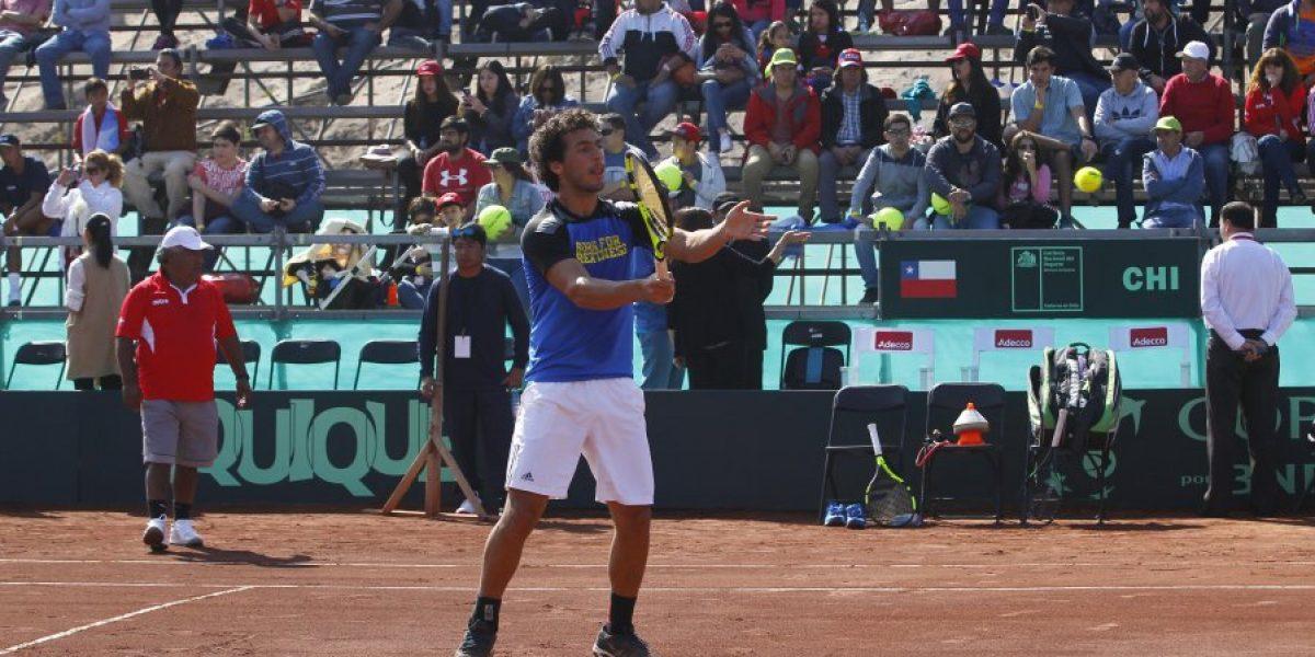 Chile-Colombia en Copa Davis se posterga hasta el sábado por malas condiciones de la cancha