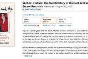 """La exrepresentante de Jackson, Shana Mangatal, también dio a conocer detalles sobre la vida sexual del cantante en el libro """"Michael and Me: The Untold Story of Michael Jackson's Secret Romance"""".. Imagen Por:"""