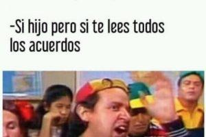 Este meme es en referencia a los acuerdos de paz realizados en Colombia. Foto:Facebook. Imagen Por:
