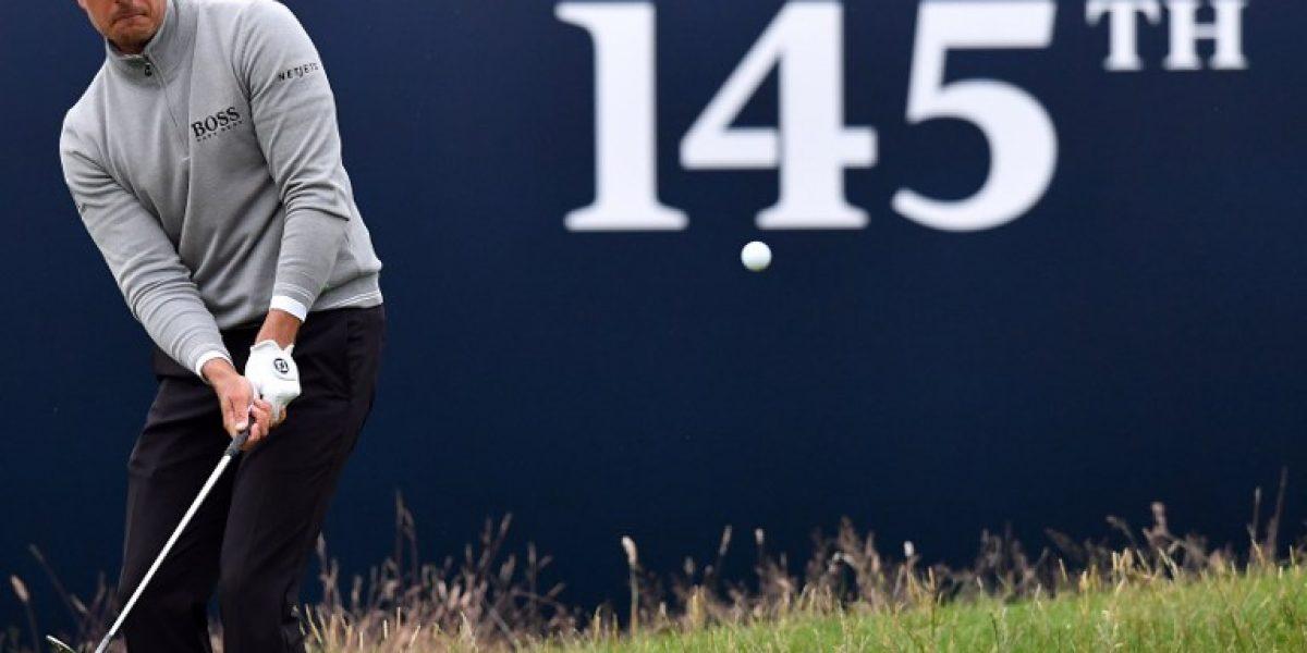 Golf: Stenson supera a Mickelson y es el líder de The Open Championship