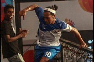 El astro brasileño marcó cinco goles en el triunfo por 7 a 2 del Goa ante Bengaluru Foto:Twitter Premier Futsal. Imagen Por: