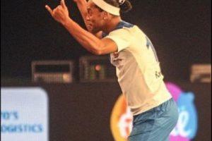 El equipo de Ronaldinho venció por 7 a 2 al de Paul Scholes Foto:Twitter Premier Futsal. Imagen Por: