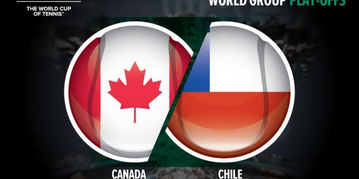 Chile visitará a Canadá en el repechaje por el Grupo Mundial de Copa Davis