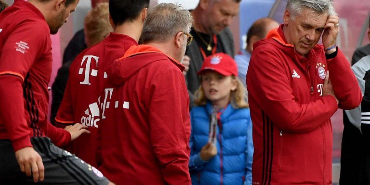 Carlo Ancelotti no quiere más fichajes en Bayern pese a lesión de Robben