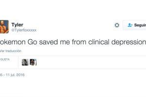 """""""Pokémon Go me salvó de la depresión clínica"""". Foto:Twitter. Imagen Por:"""