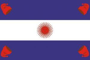 6. La Confederación Argentina realiza pequeños ajustes a la bandera. Imagen Por: