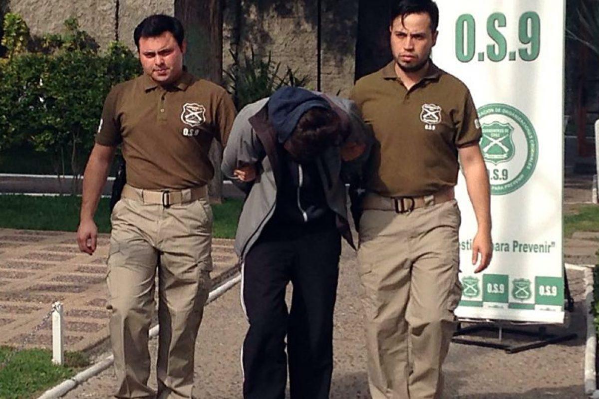 El joven cuando fue detenido por primera vez. Foto:Agencia UNO. Imagen Por: