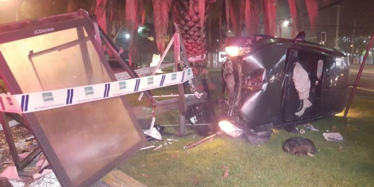 Persecución entre taxista y vehículo Uber terminó en accidente de tránsito